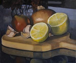 Lemon, Tomato, Onion, Garlic, Leek, & Zinnias