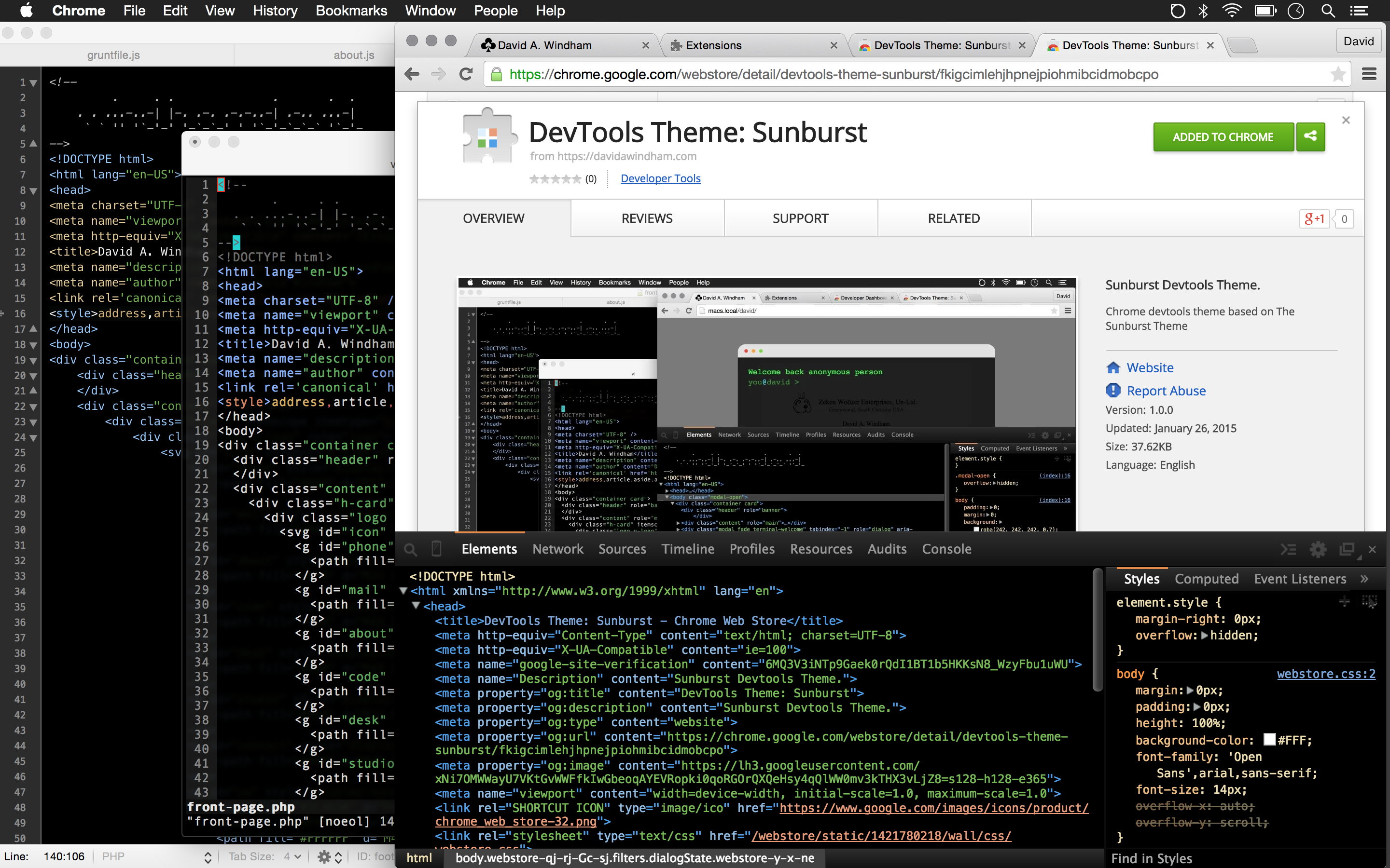 Chrome Devtools Theme