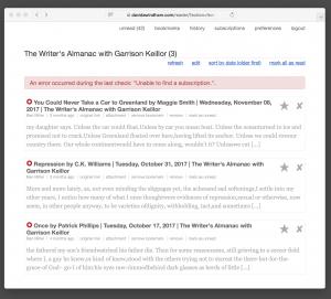 The Writers Almanac